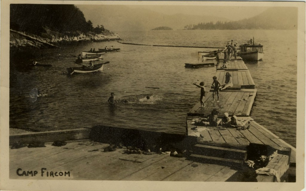 Camp Fircom, British Columbia, Canada postcard