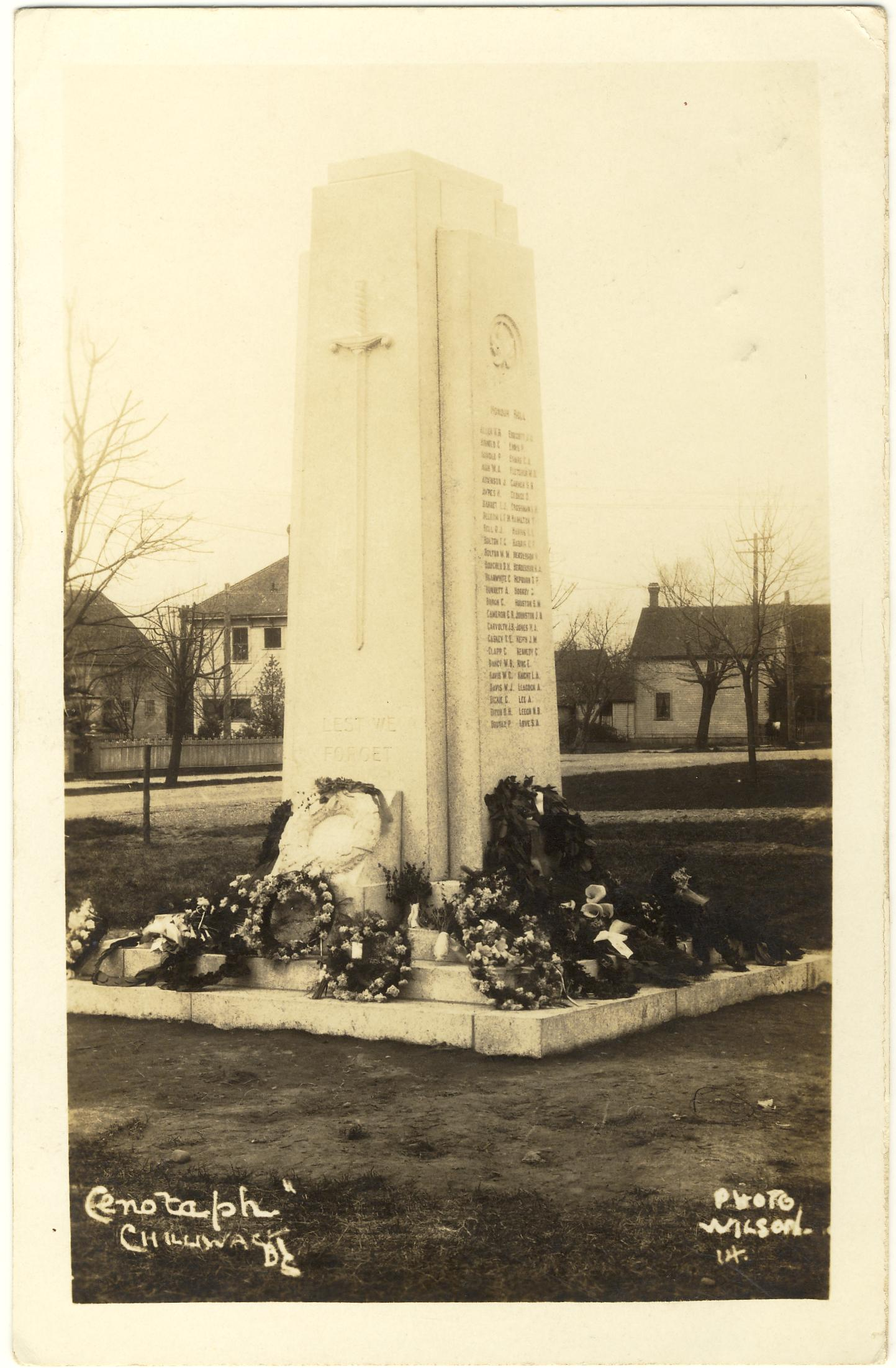Chilliwack, British Columbia, Canada Cenotaph.