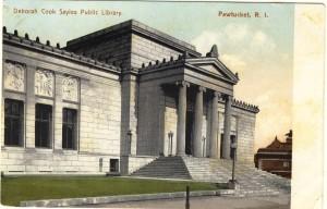 Deborah Cook Sayles Public Library, Pawtucket, Rhode Island, USA - postcard