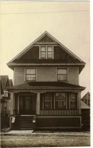 Yukon St residence Vancouver BC-Postcard 1911